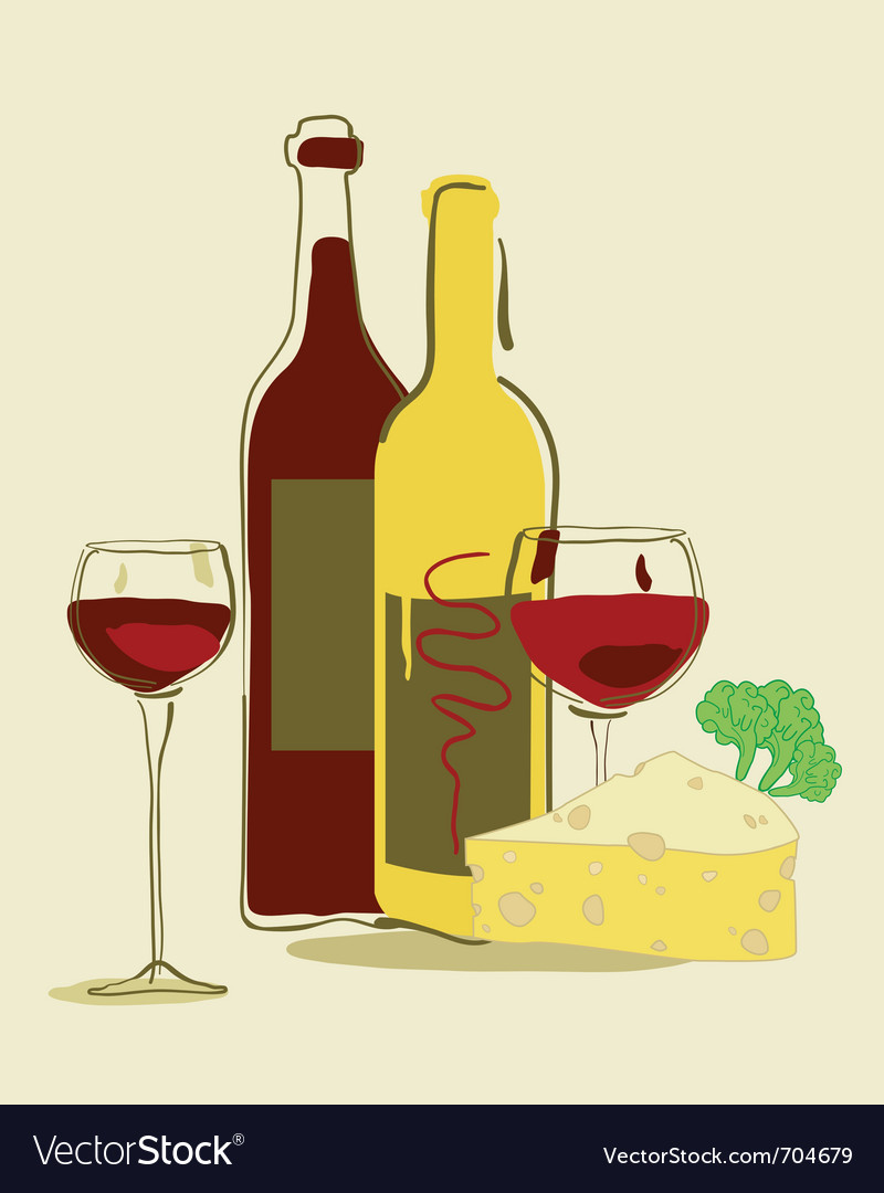 Red wine and cheese vector | Price: 1 Credit (USD $1)