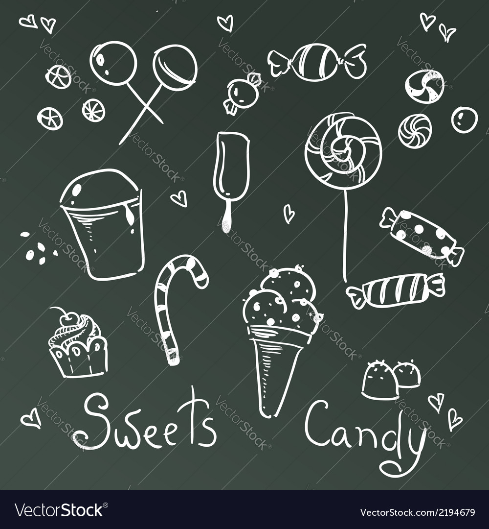 Sweets and chocolate icons vector | Price: 1 Credit (USD $1)