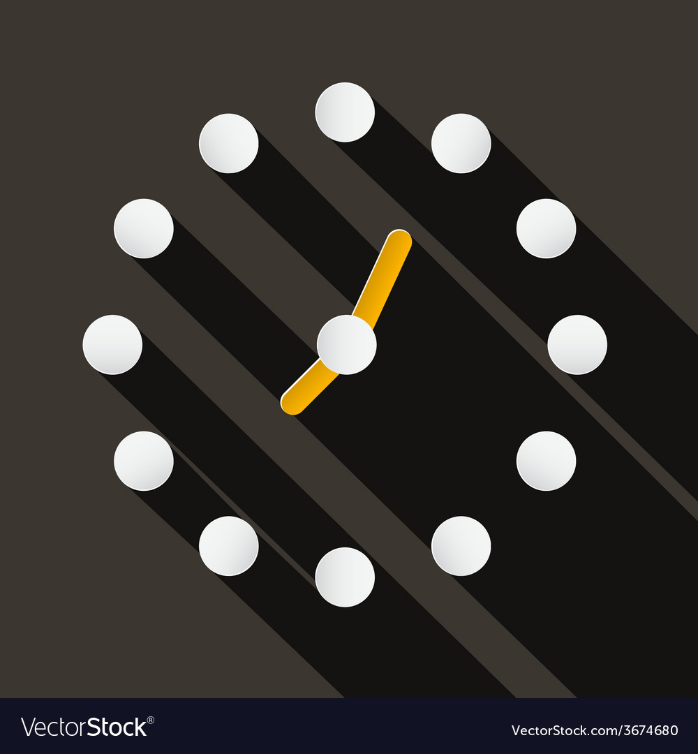 Abstract paper circle clock face on dark bac vector | Price: 1 Credit (USD $1)