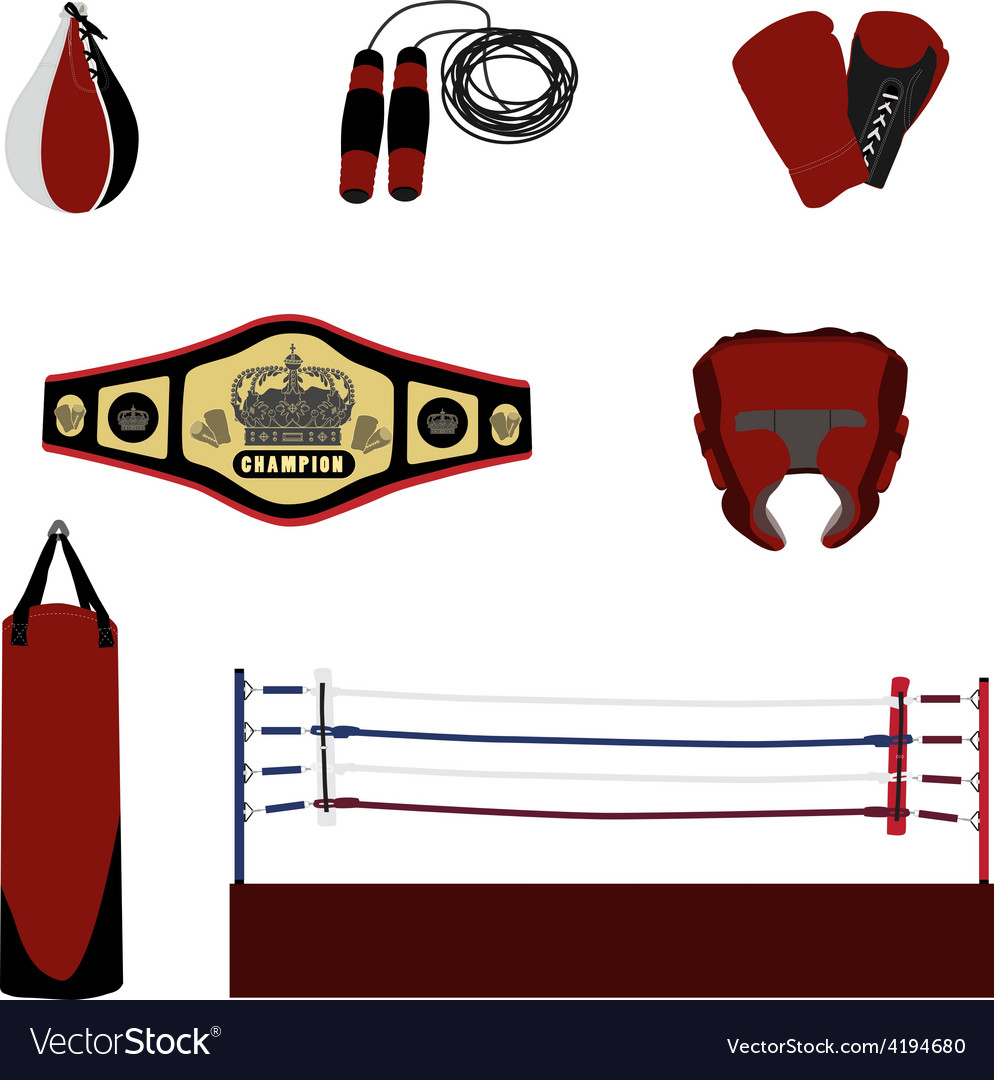Boxing set vector | Price: 1 Credit (USD $1)