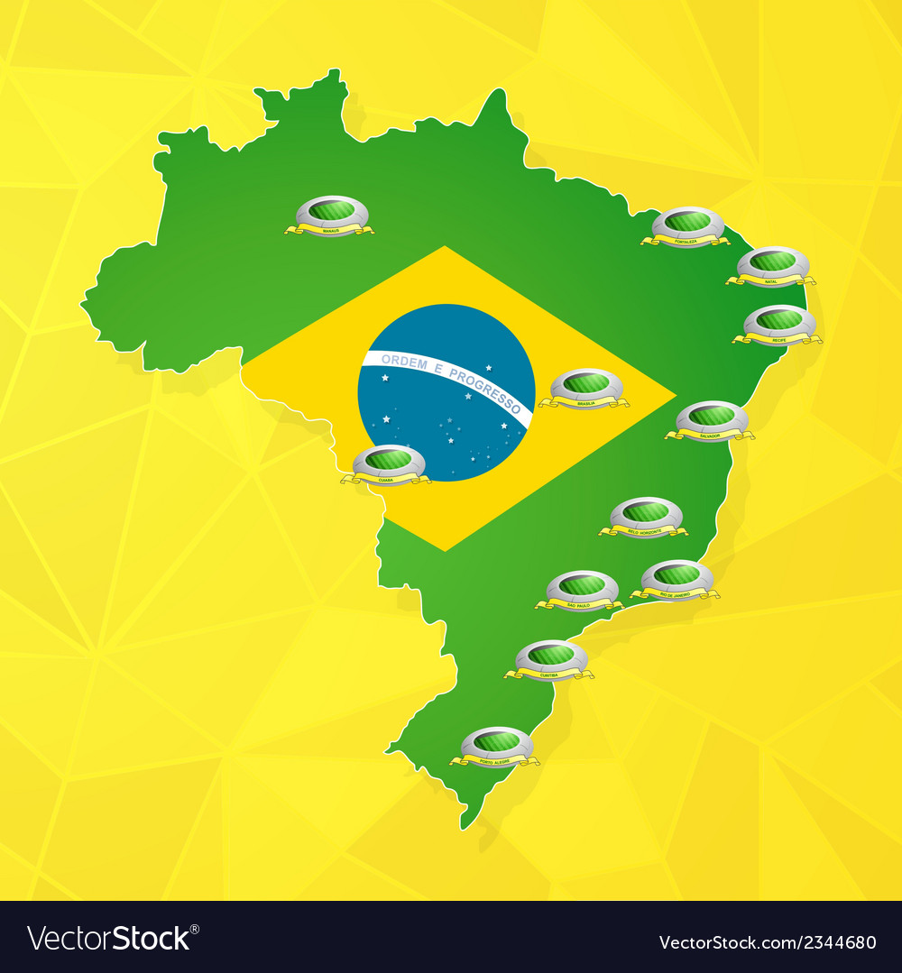 Brazil soccer championship stadiums vector | Price: 1 Credit (USD $1)