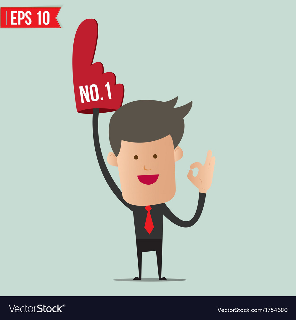 Business man show number one - - eps10 vector | Price: 1 Credit (USD $1)