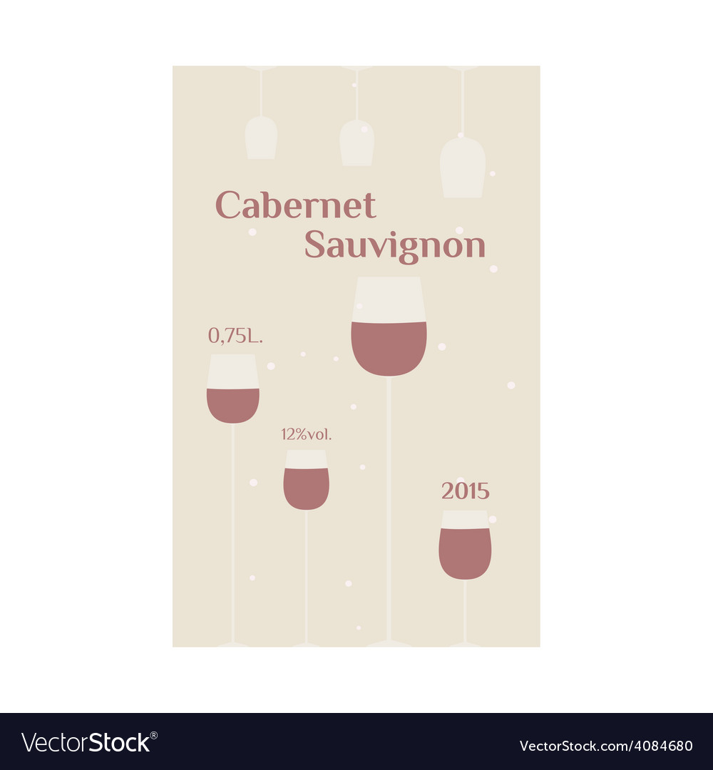 Cabernet sauvignon label vector | Price: 1 Credit (USD $1)