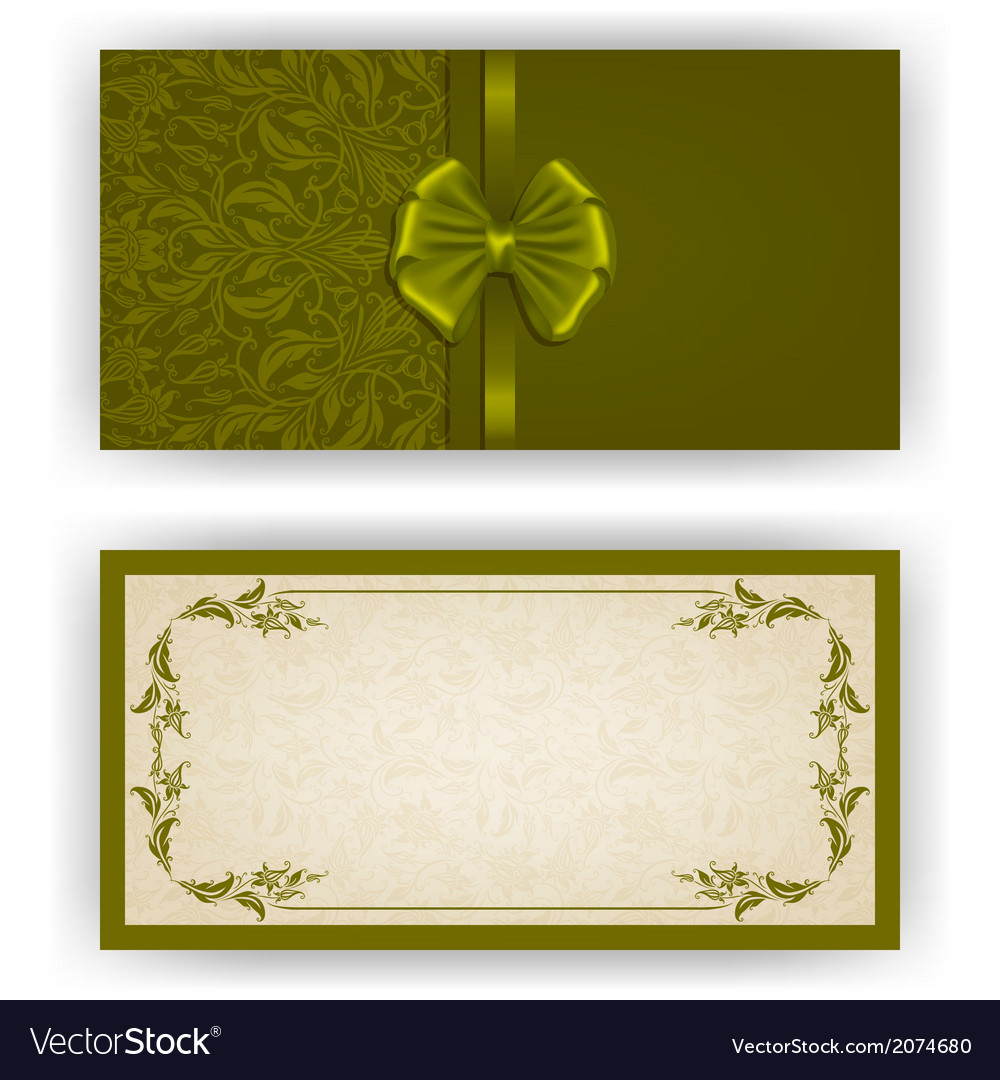 Elegant template for luxury invitation vector | Price: 1 Credit (USD $1)