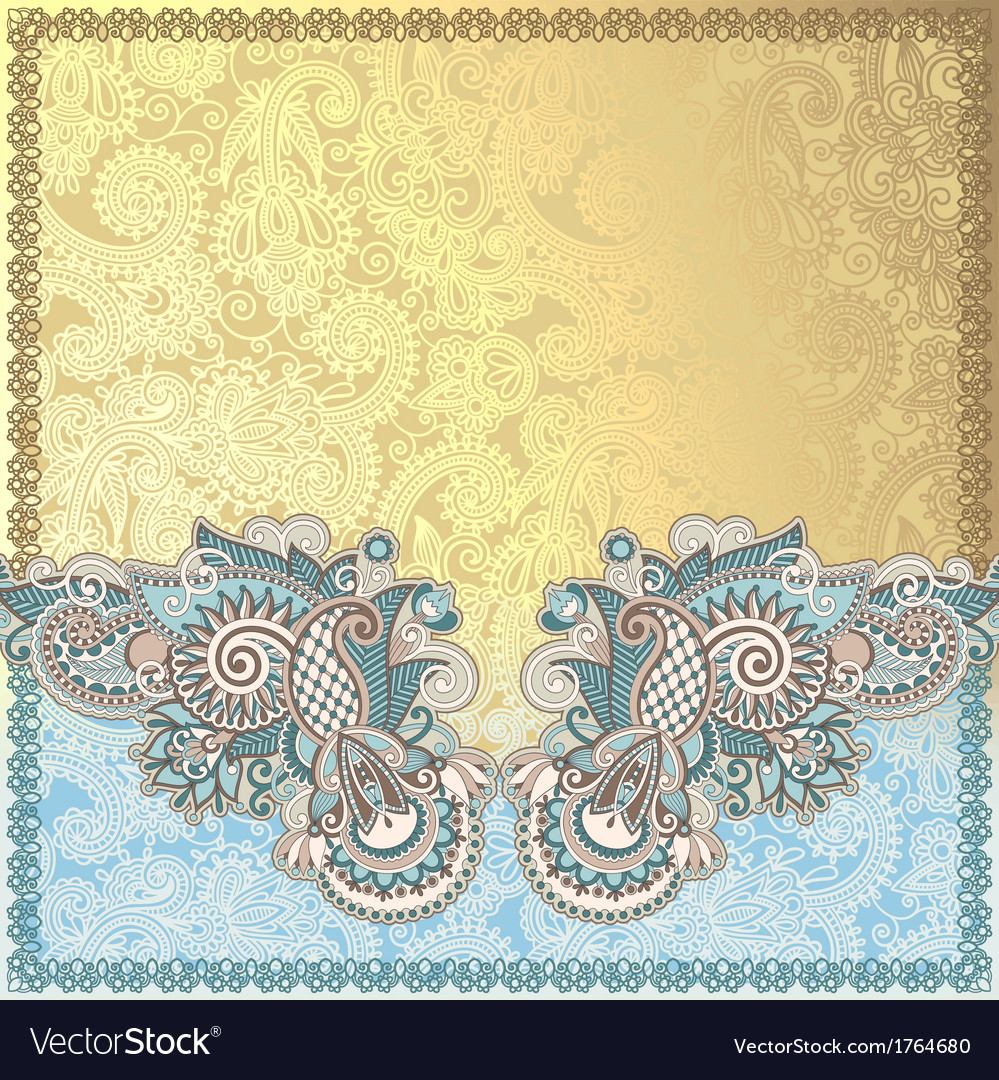 Hand draw ornate card announcement vector | Price: 1 Credit (USD $1)