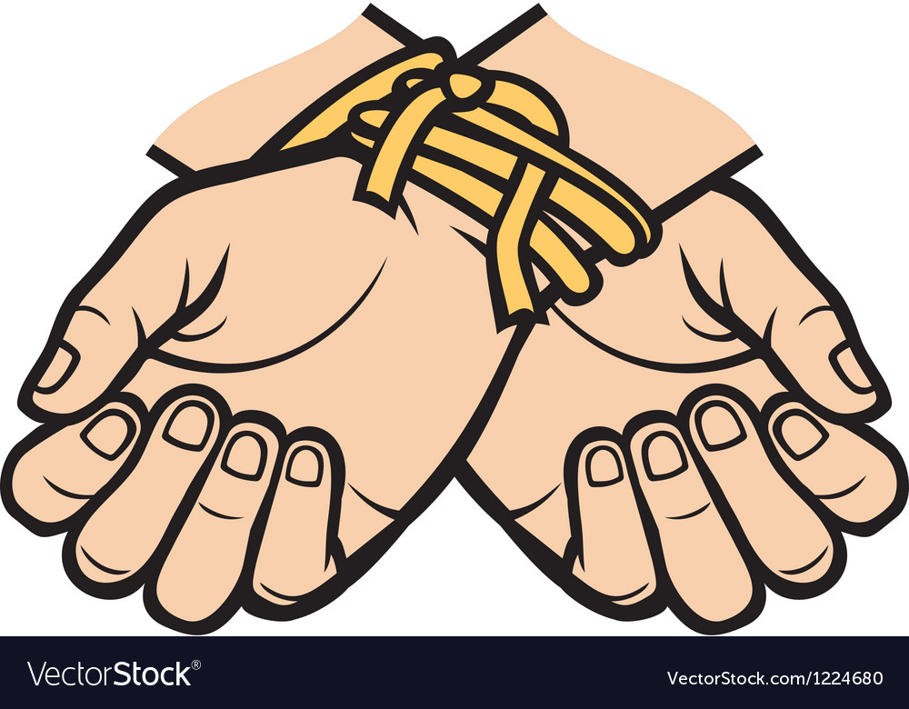 Hands tied vector | Price: 3 Credit (USD $3)