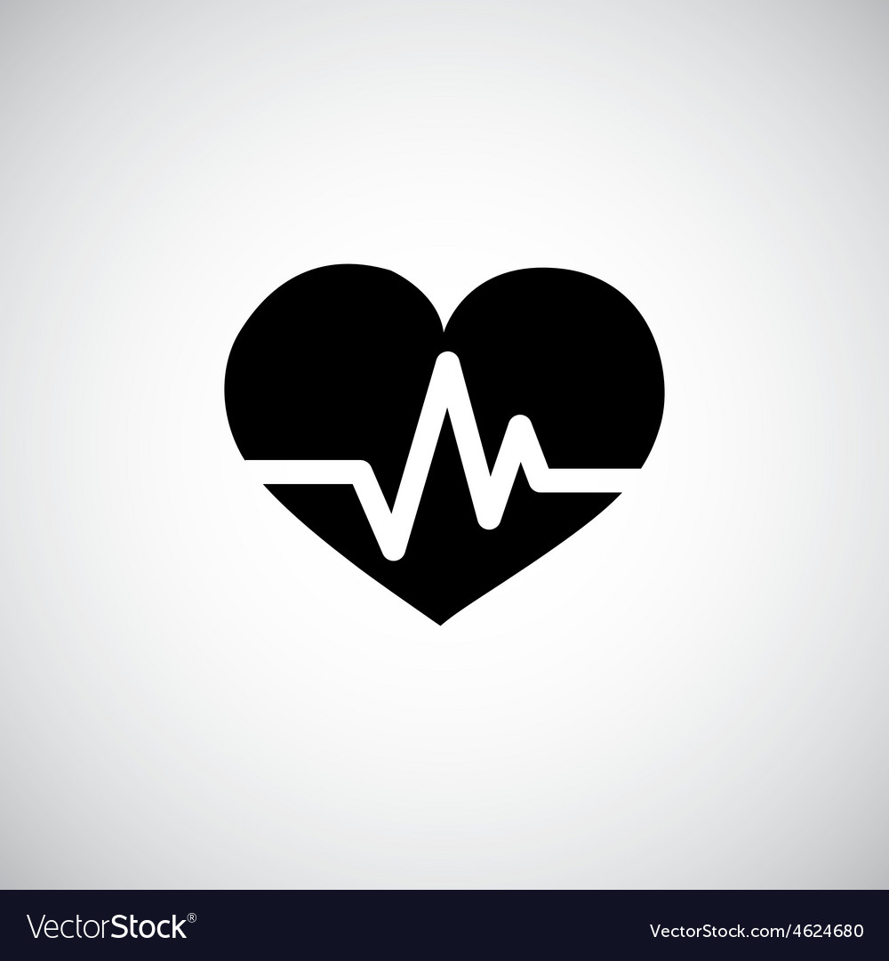 Heart pulse icon vector | Price: 1 Credit (USD $1)