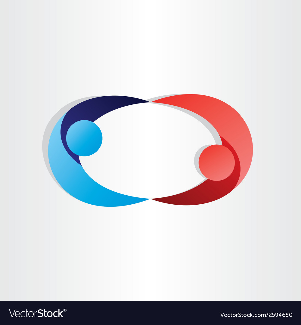 Man and woman dancing 3d effect abstract design vector | Price: 1 Credit (USD $1)