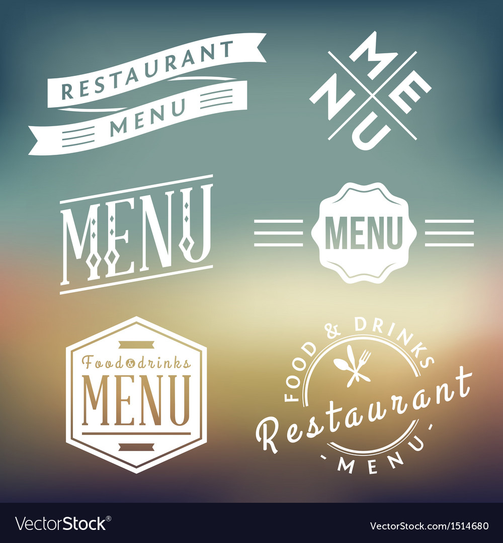 Menu labels vector | Price: 1 Credit (USD $1)