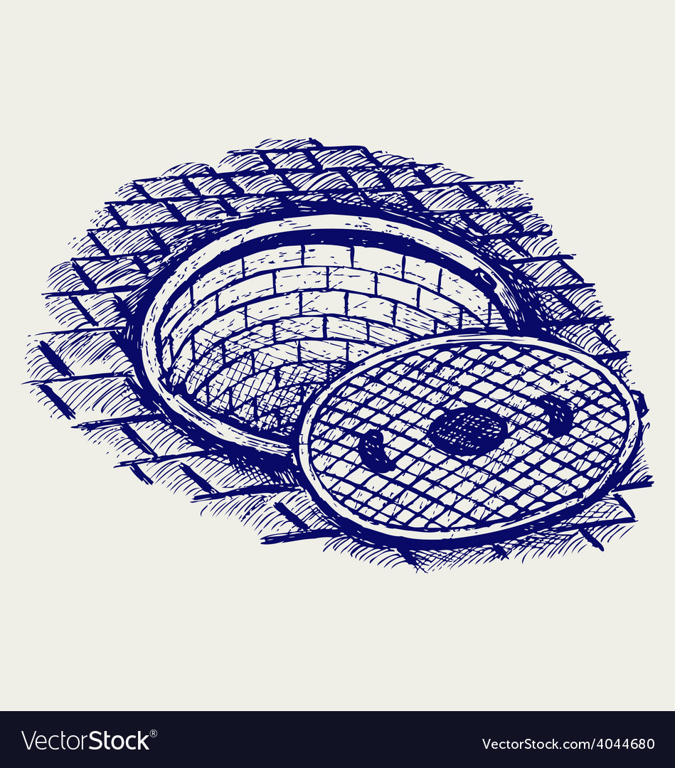 Opened street manhole vector | Price: 1 Credit (USD $1)