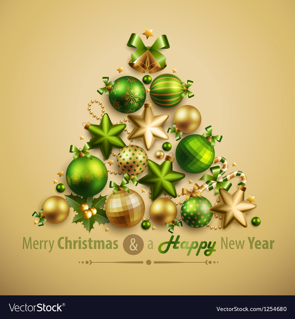 Xmas tree3 vector | Price: 3 Credit (USD $3)