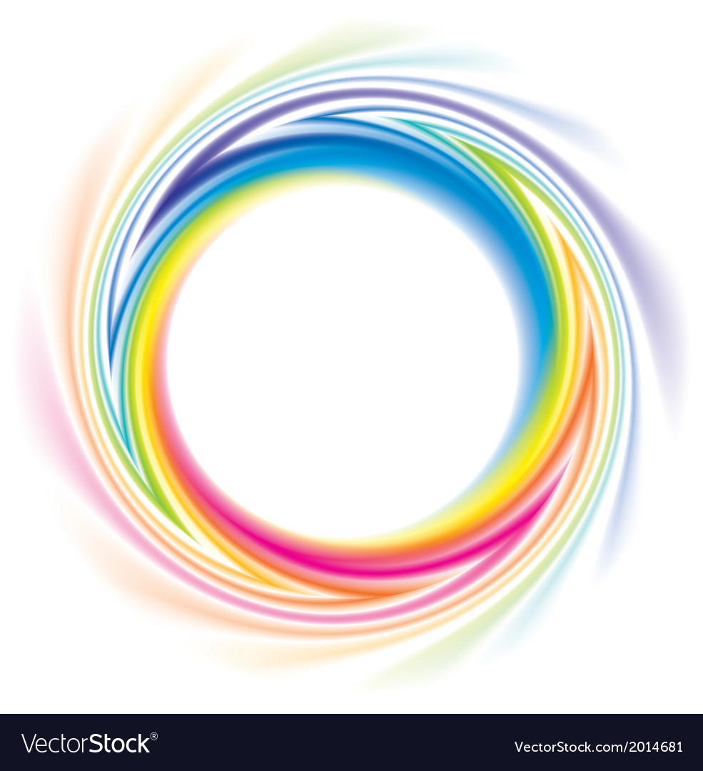 Abstract frame of spiral curled rainbow spectrum vector | Price: 1 Credit (USD $1)