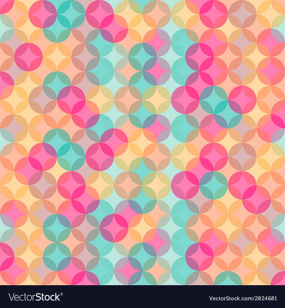 Abstract retro geometric seamless pattern with vector | Price: 1 Credit (USD $1)