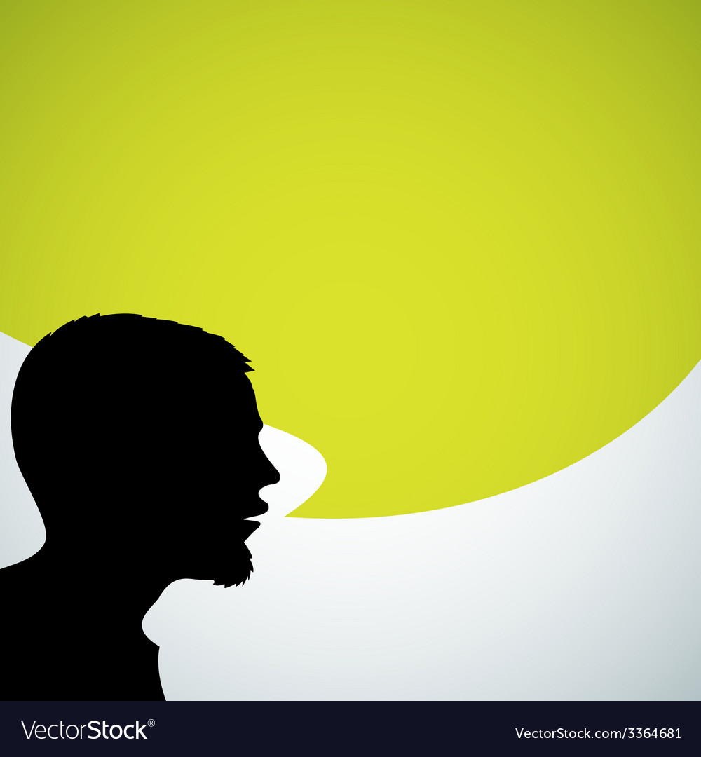 Abstract speaker silhouette vector | Price: 1 Credit (USD $1)