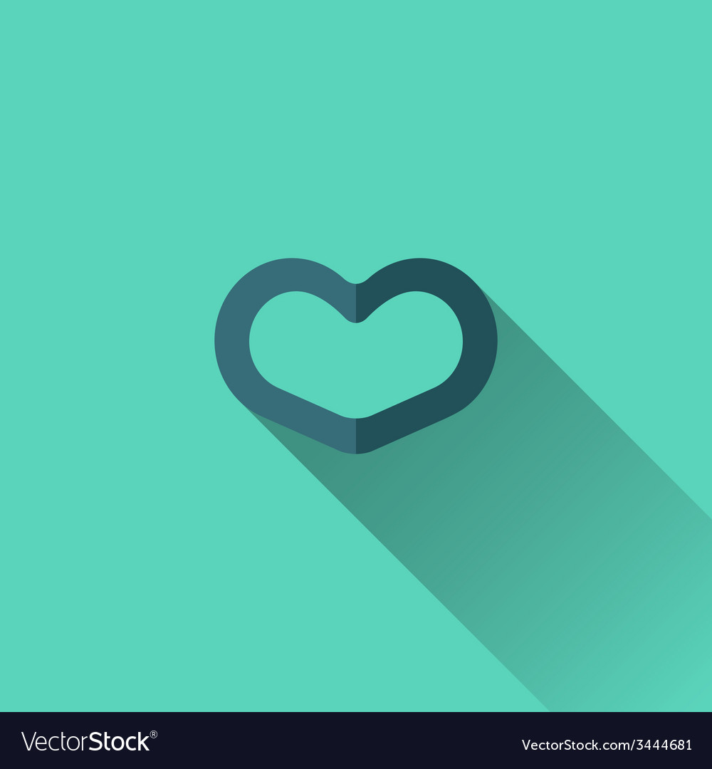 Blue heart icon flat design vector | Price: 1 Credit (USD $1)
