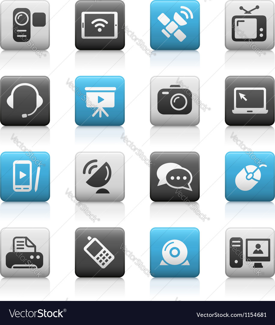 Communications icons matte series vector | Price: 1 Credit (USD $1)
