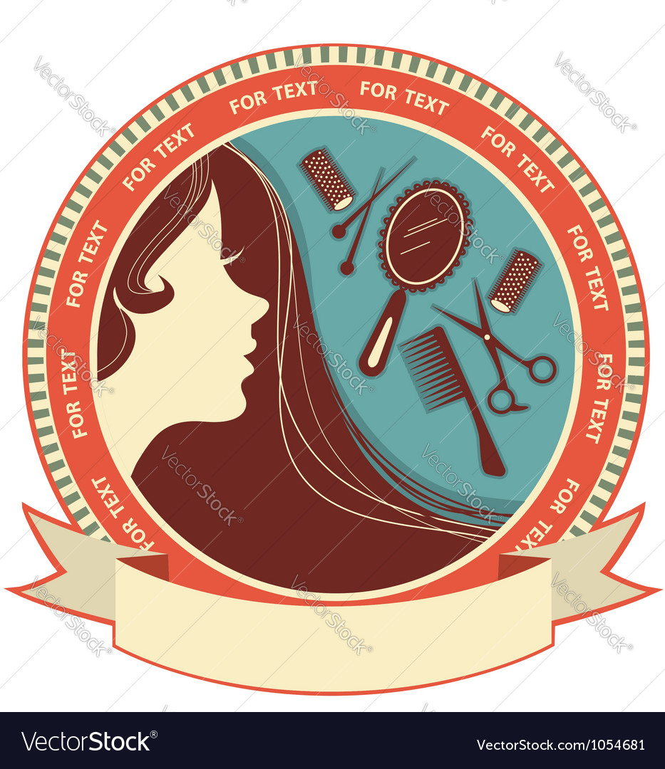Hair salon background with woman face vector | Price: 1 Credit (USD $1)