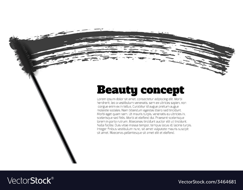 Mascara brush stroke beauty background vector | Price: 1 Credit (USD $1)