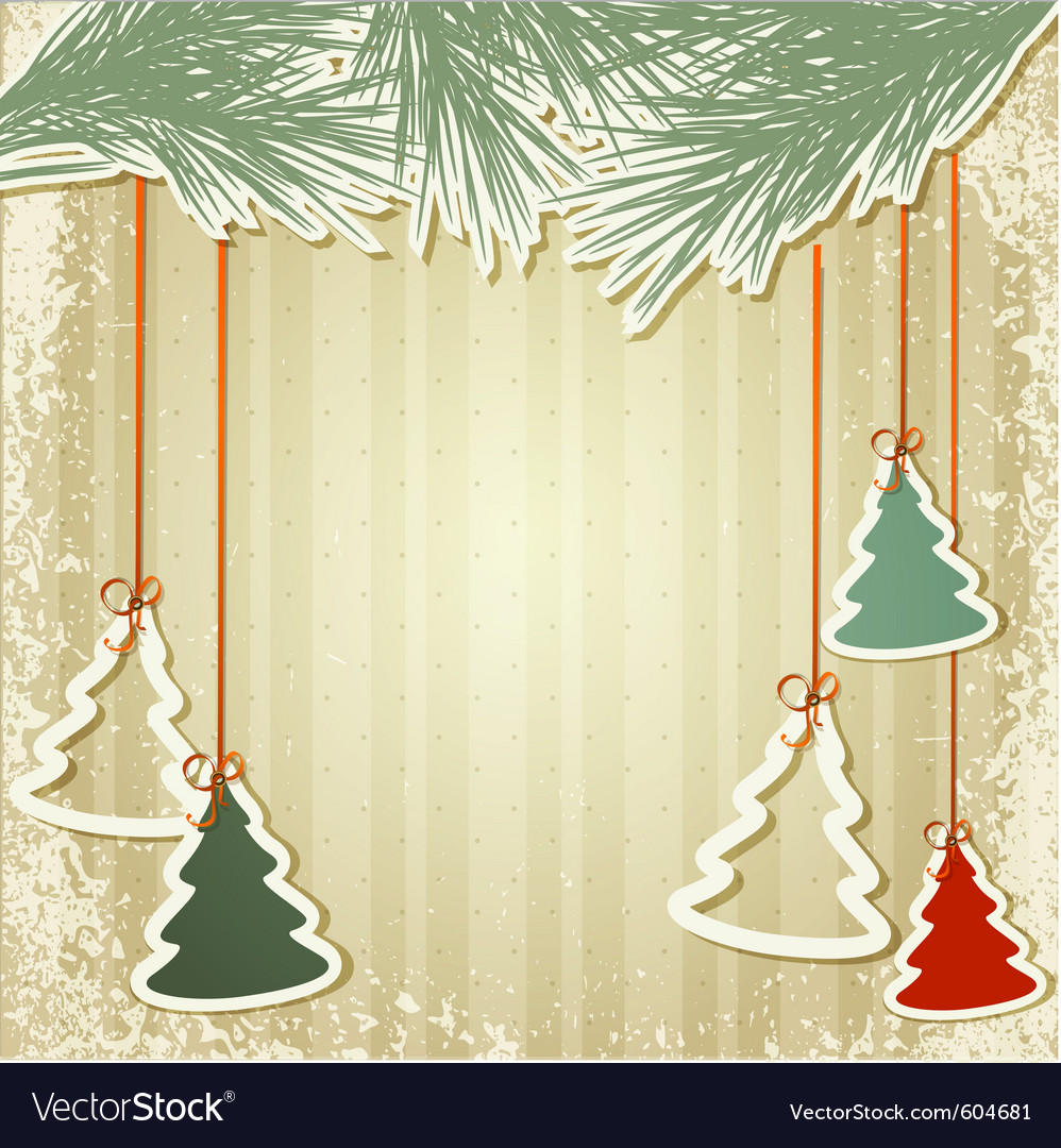 New years holiday background with hanging herringb vector | Price: 3 Credit (USD $3)