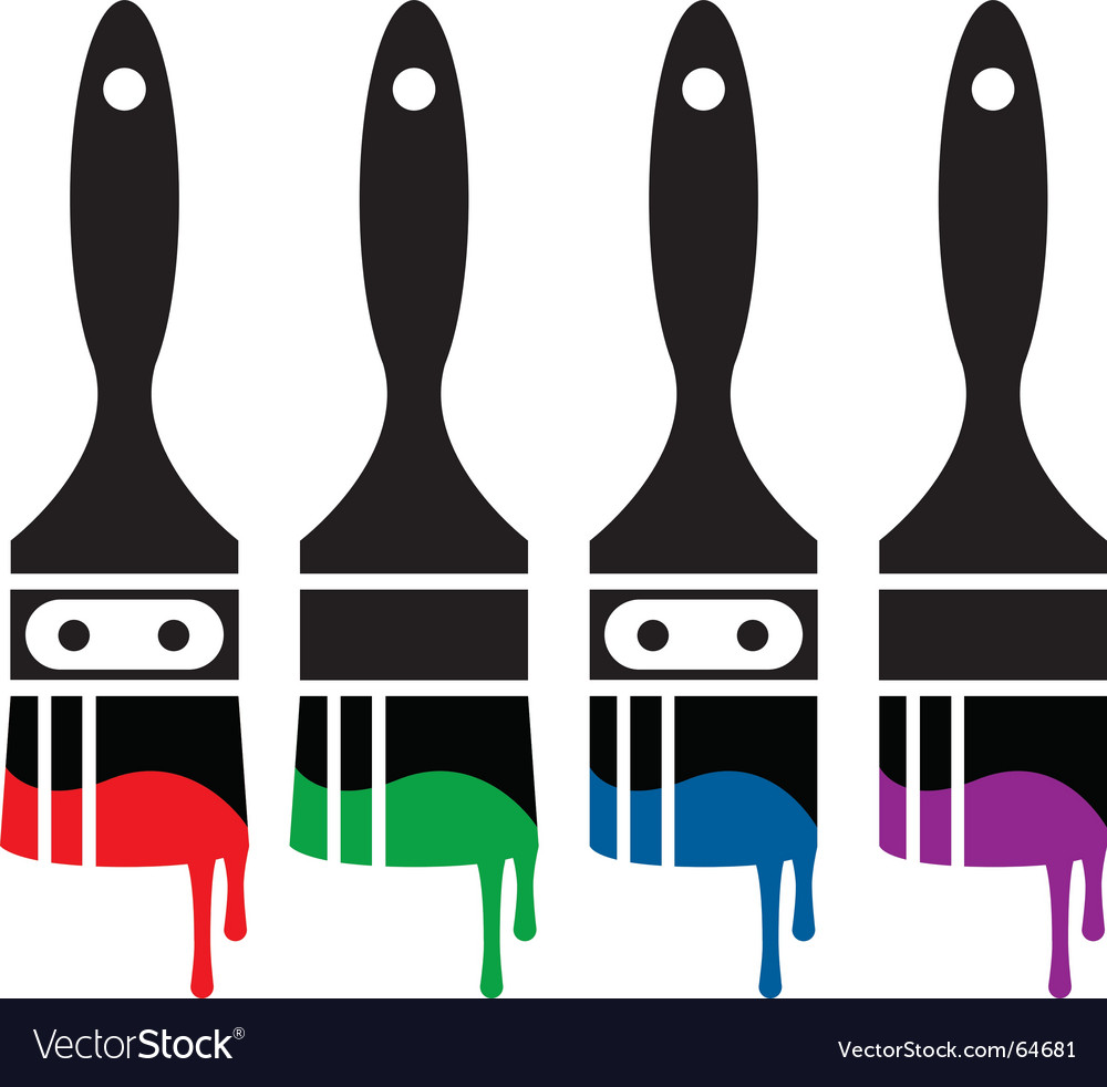 Paintbrush icon set vector
