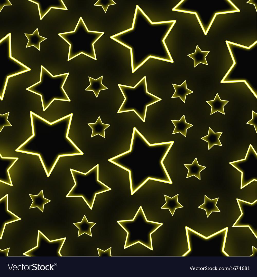 Seamless neon stars background vector | Price: 1 Credit (USD $1)