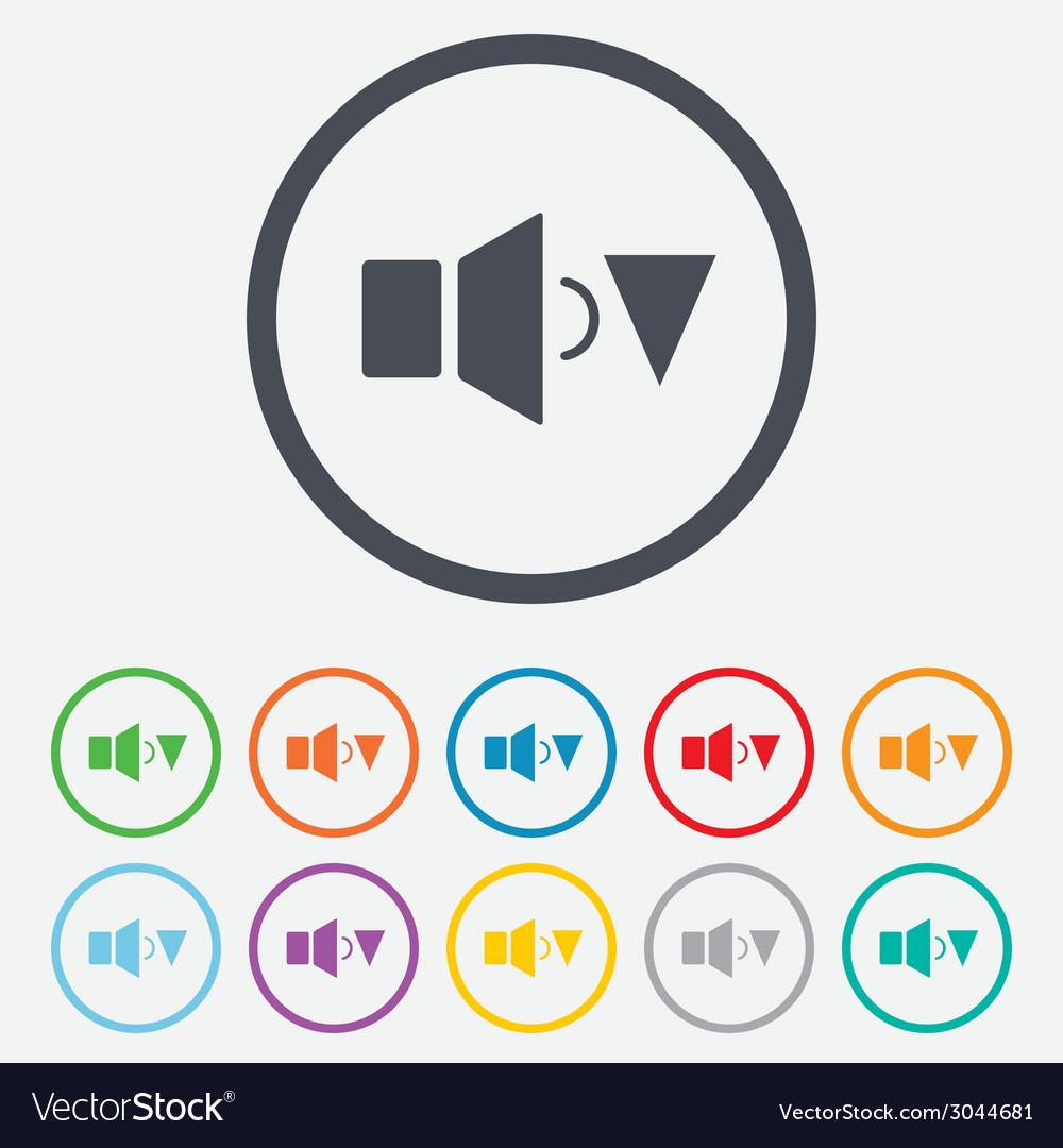 Speaker low volume sign icon sound symbol vector | Price: 1 Credit (USD $1)