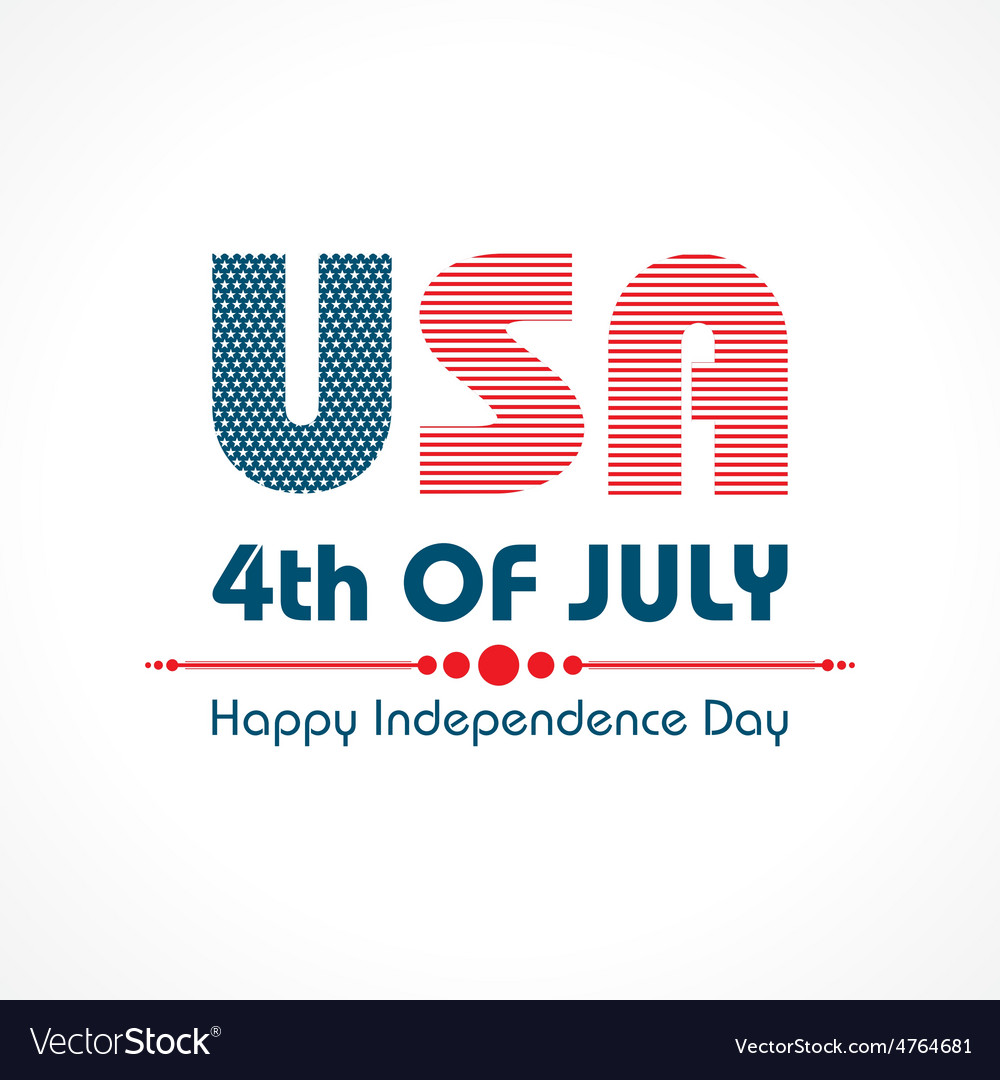 Stylish american independence day greeting vector | Price: 1 Credit (USD $1)