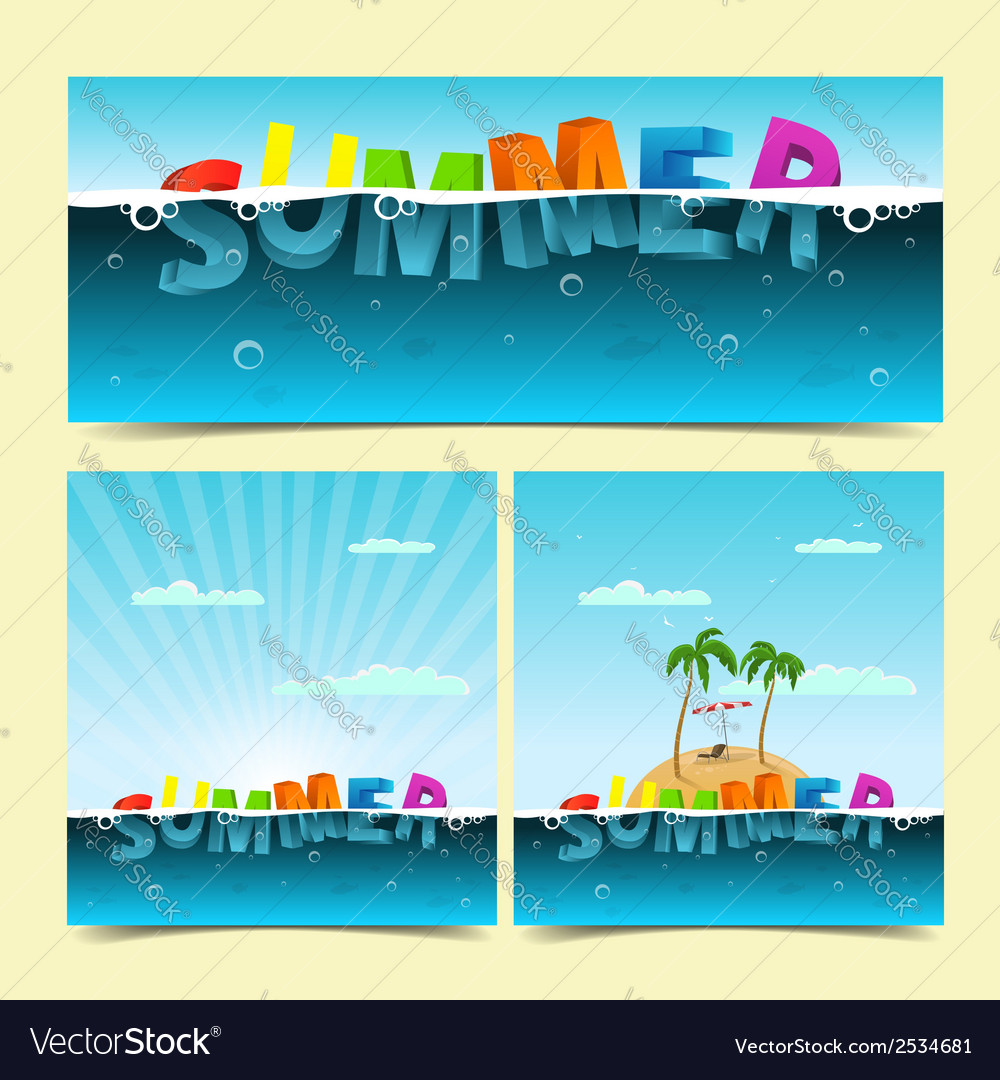 Summer banners vector   Price: 3 Credit (USD $3)