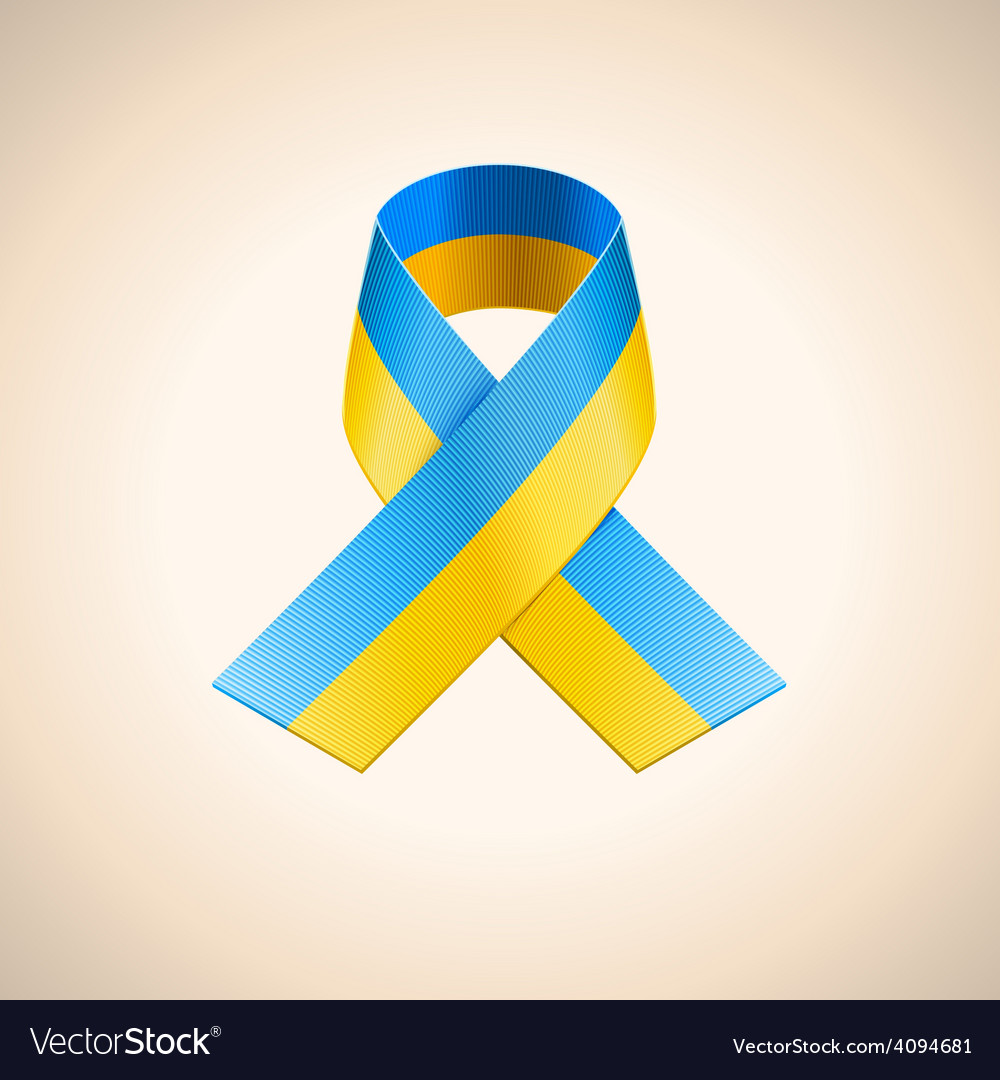 Ukrainian flag in the ribbon vector | Price: 1 Credit (USD $1)