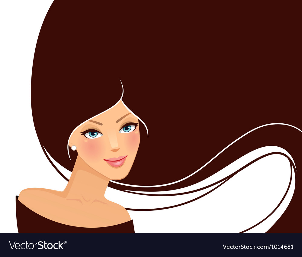 Womans hair vector | Price: 1 Credit (USD $1)