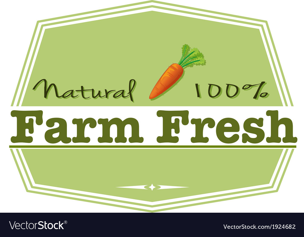 A natural farm fresh label vector | Price: 1 Credit (USD $1)
