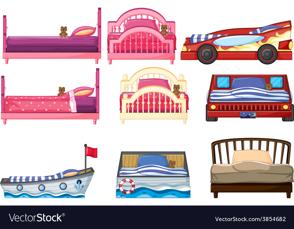 Beds vector | Price: 1 Credit (USD $1)