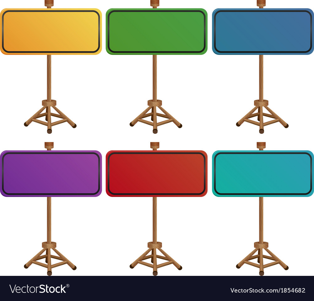 Colorful empty signboards vector | Price: 1 Credit (USD $1)