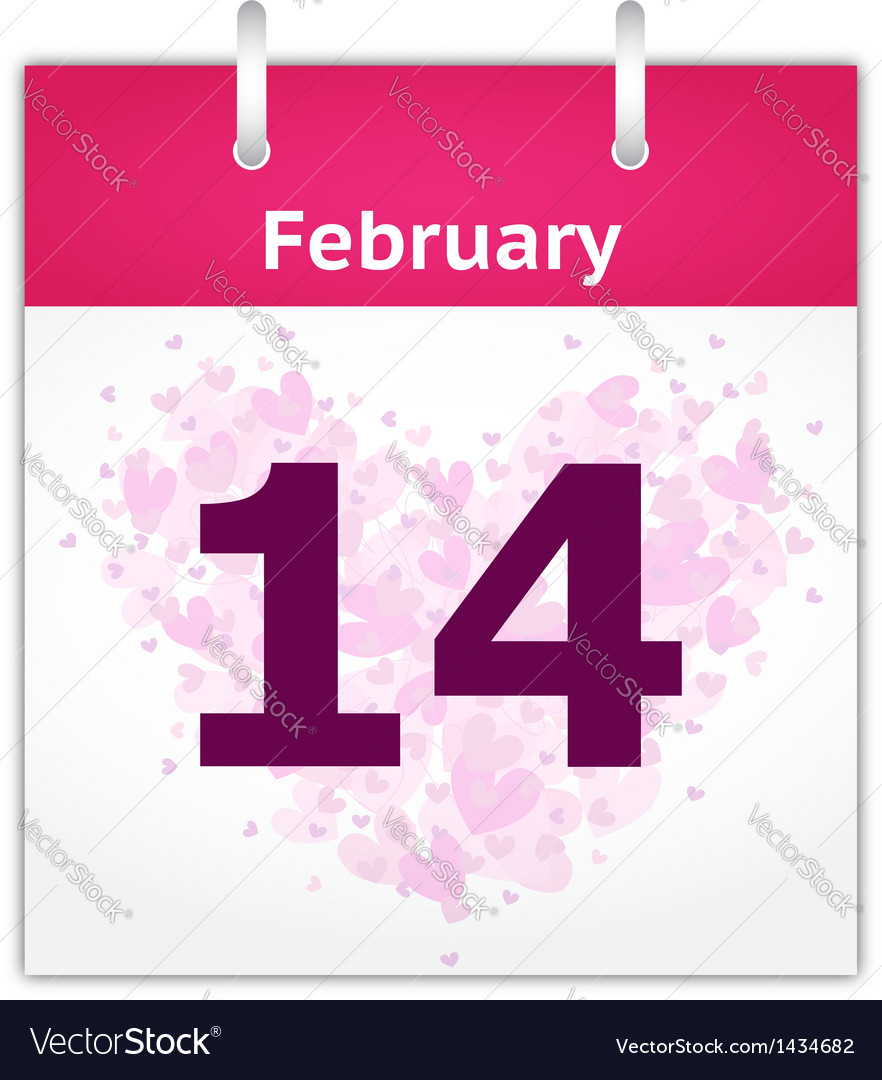 February 14 vector | Price: 1 Credit (USD $1)