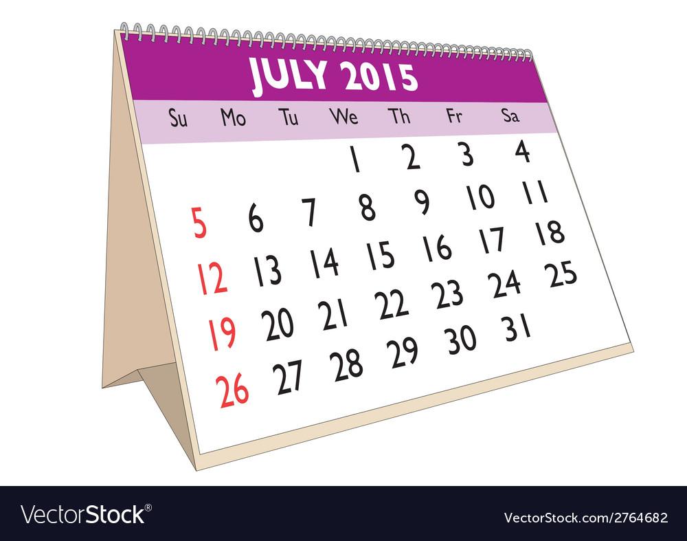 July 2015 vector | Price: 1 Credit (USD $1)