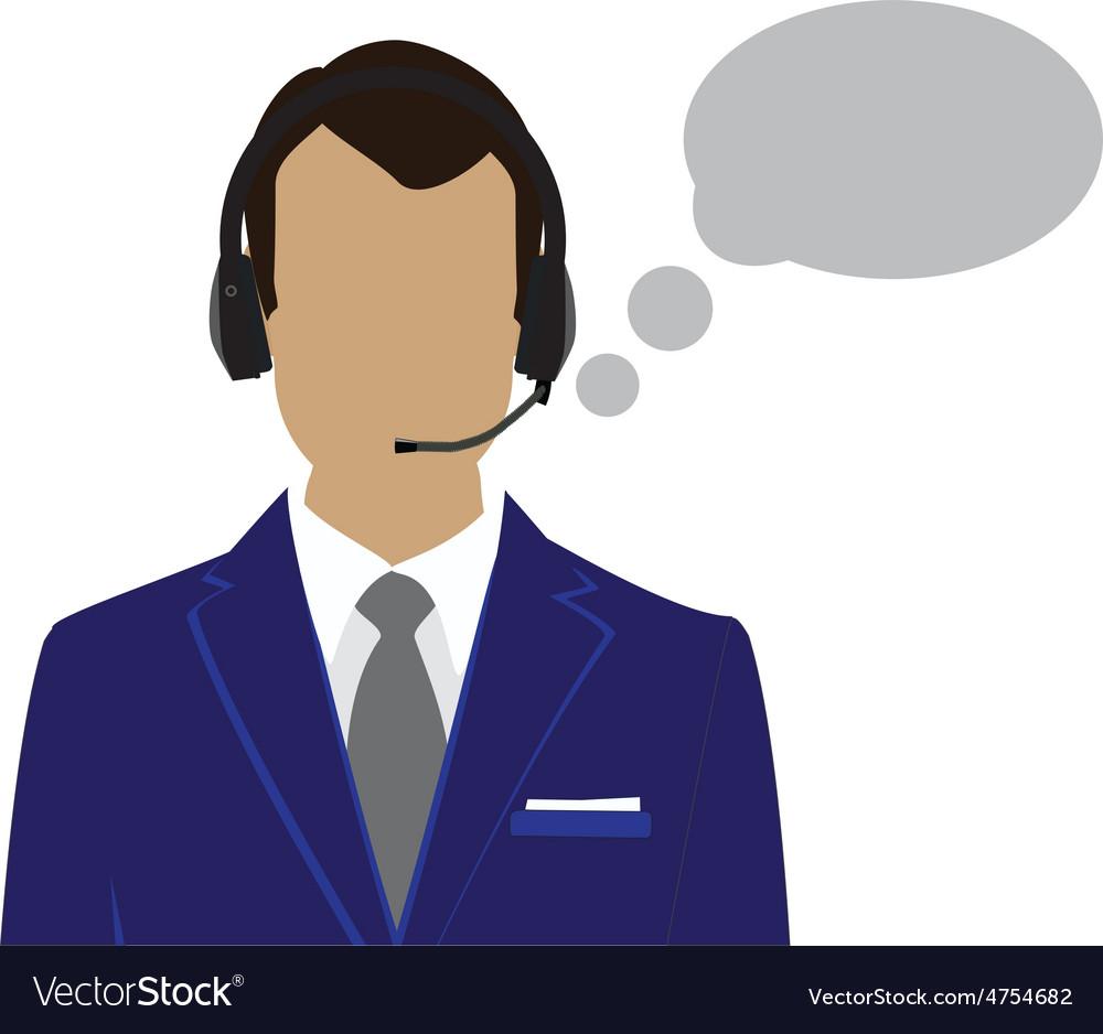 Male call center avatar vector | Price: 1 Credit (USD $1)