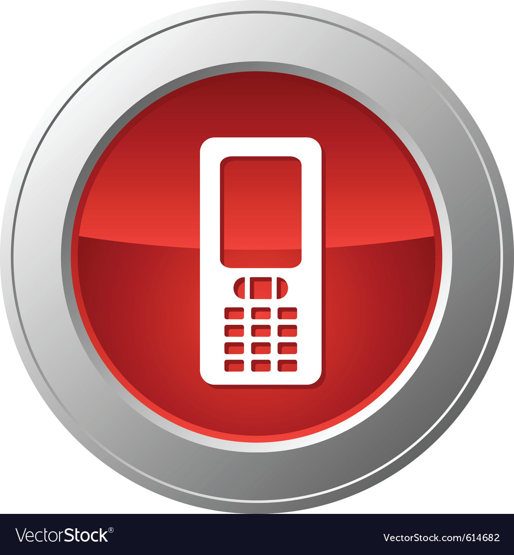 Mobile phone button vector | Price: 1 Credit (USD $1)