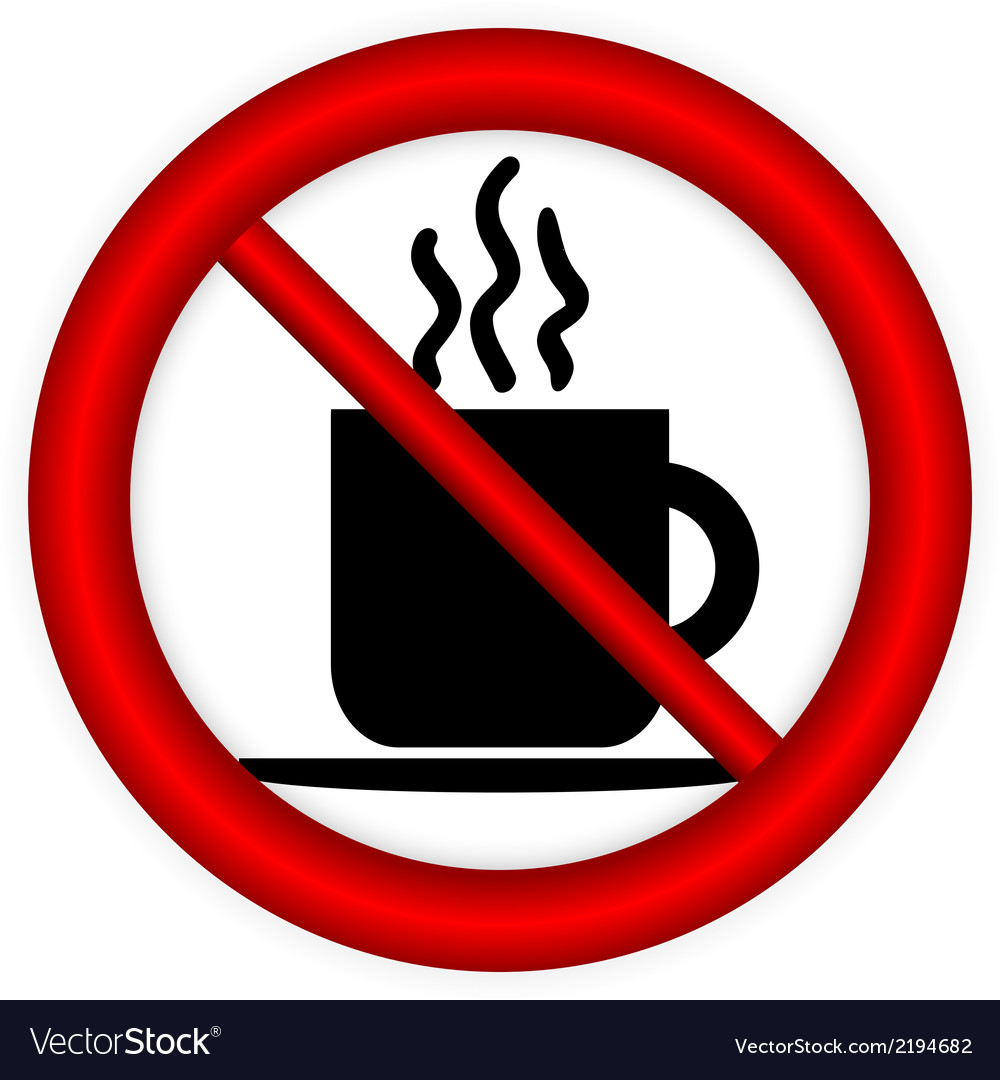 No coffee cup sign vector | Price: 1 Credit (USD $1)