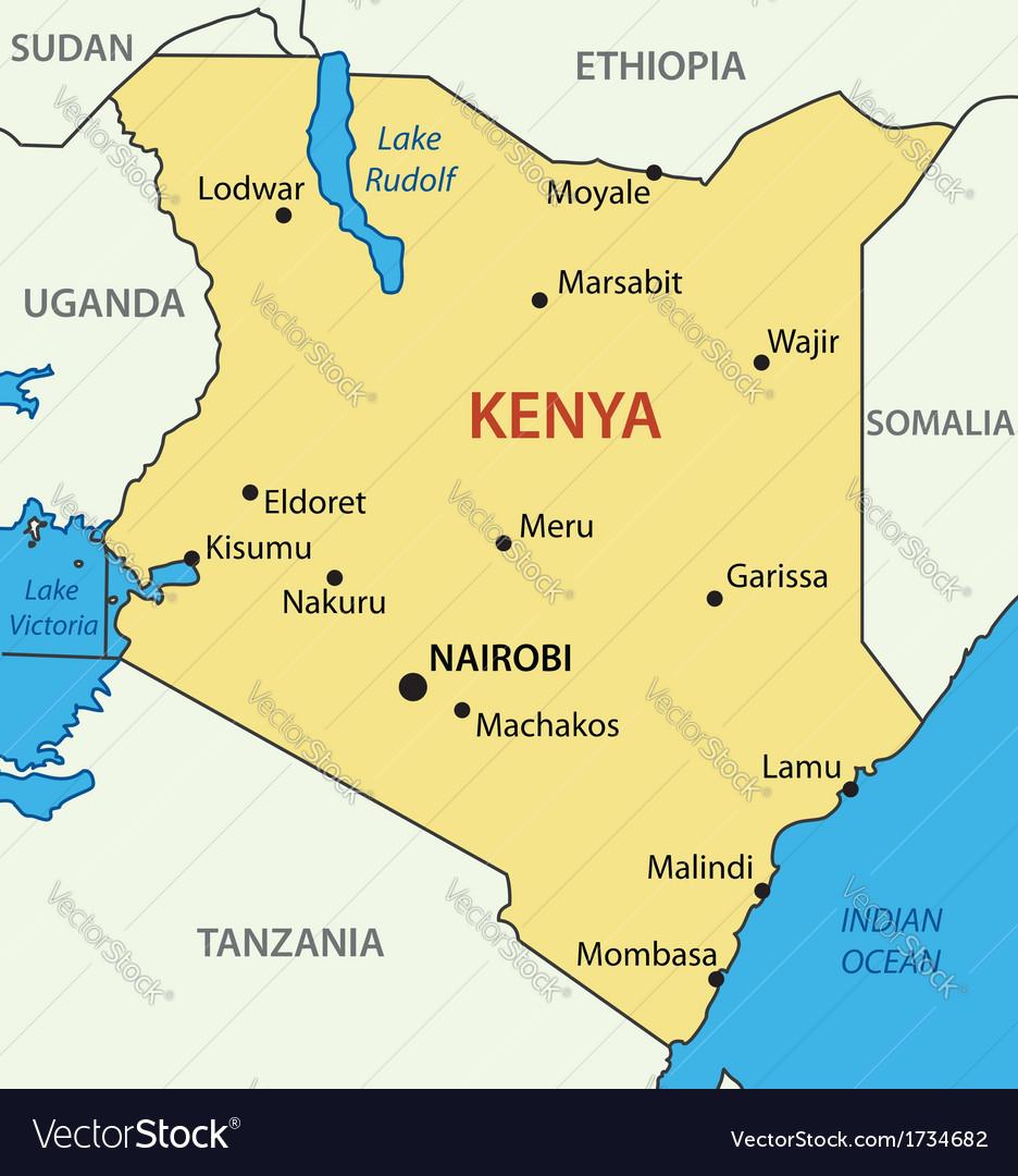 Republic of kenya - map vector | Price: 1 Credit (USD $1)