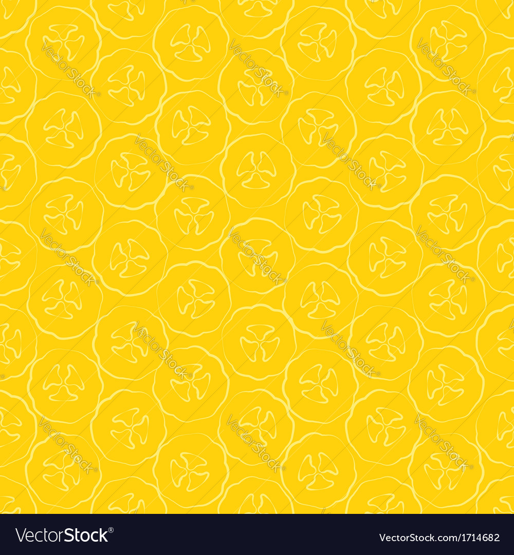 Seamless pattern slice of banana vector | Price: 1 Credit (USD $1)