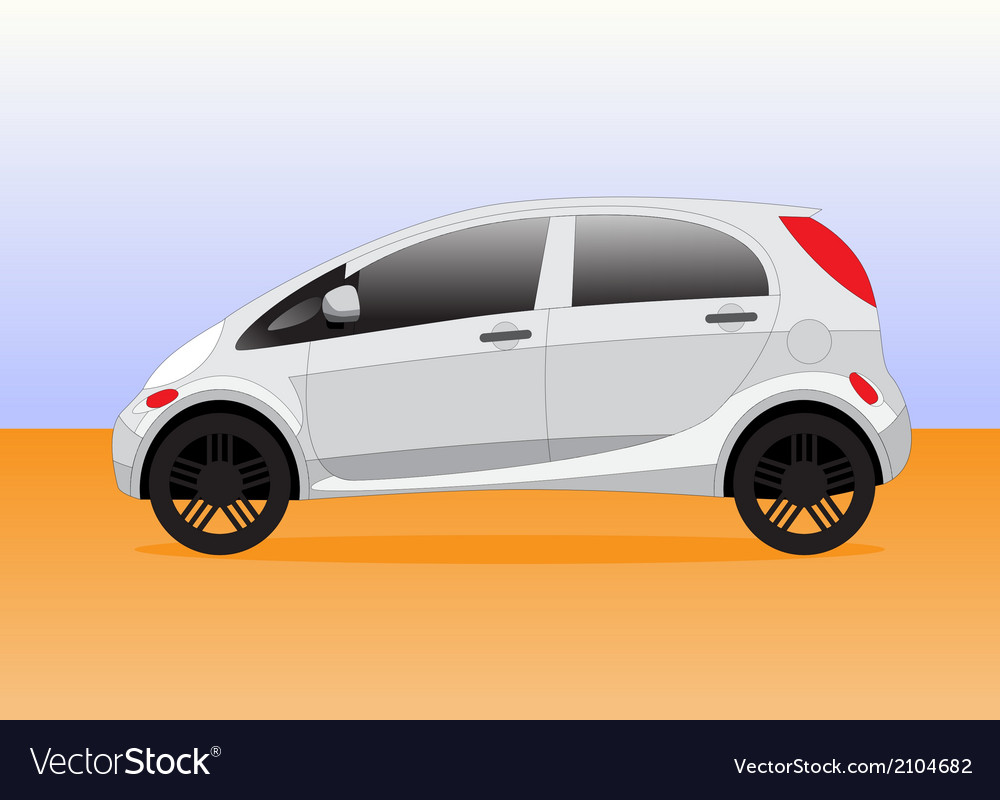 Small compact city car vector | Price: 1 Credit (USD $1)