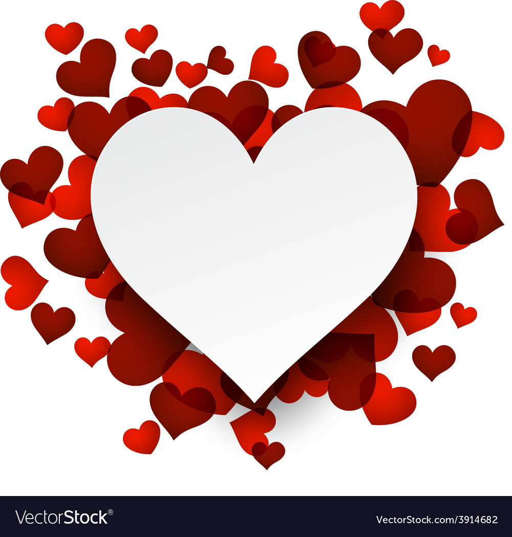 Valentines background with red hearts vector | Price: 1 Credit (USD $1)