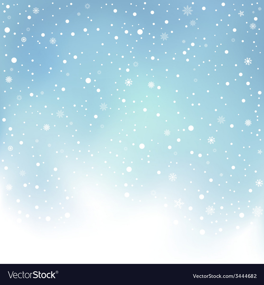 Winter day snow background vector | Price: 1 Credit (USD $1)