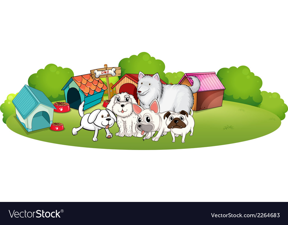 A group of adorable dogs vector | Price: 1 Credit (USD $1)
