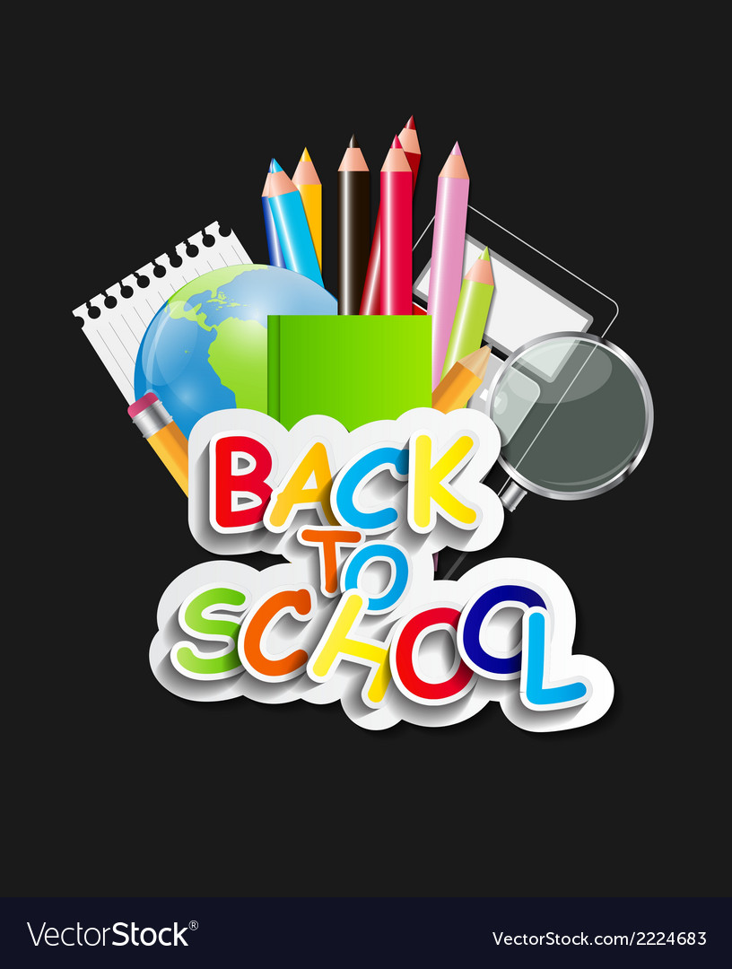 Back to school concept vector | Price: 1 Credit (USD $1)
