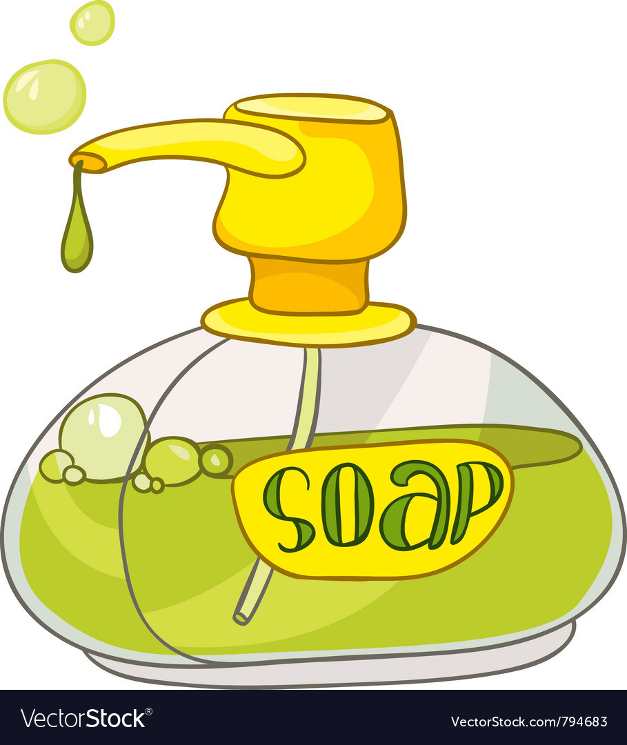 Cartoon home washroom soap vector | Price: 1 Credit (USD $1)