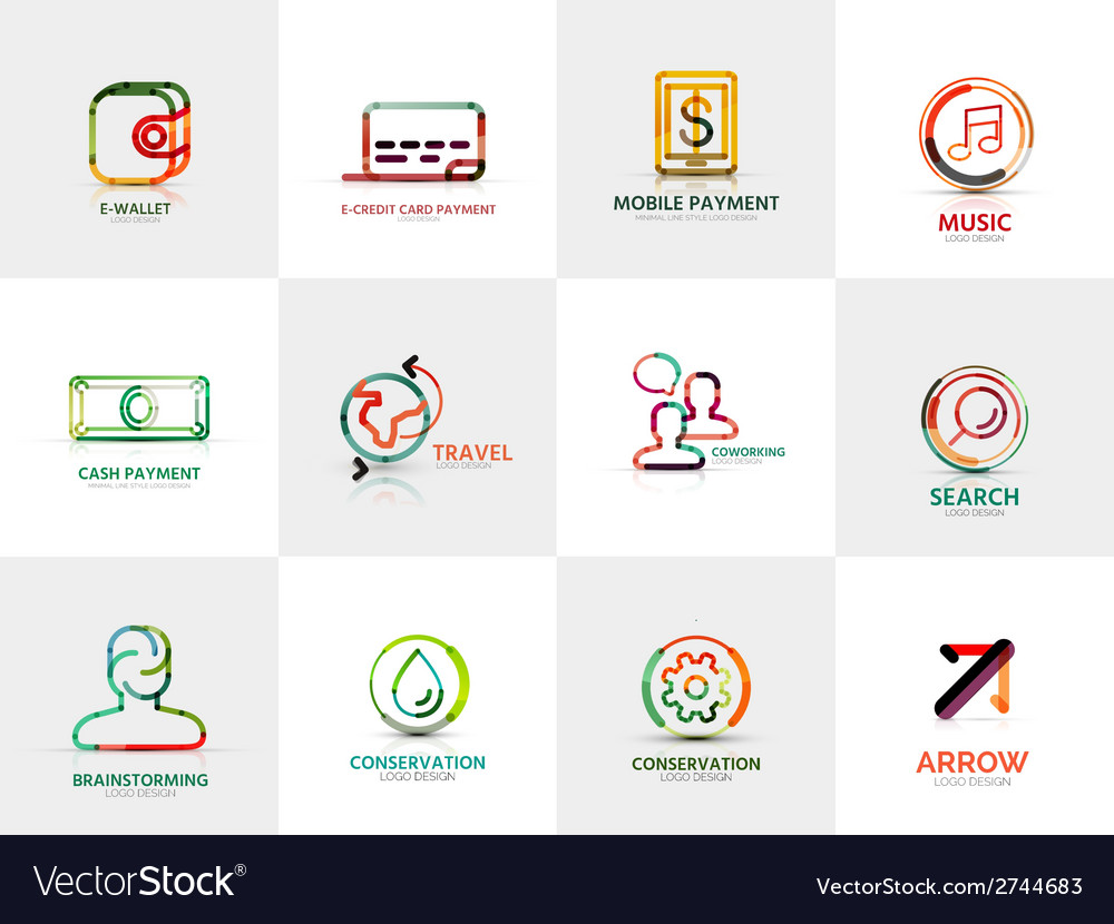 Collection of company logos business concepts vector | Price: 1 Credit (USD $1)