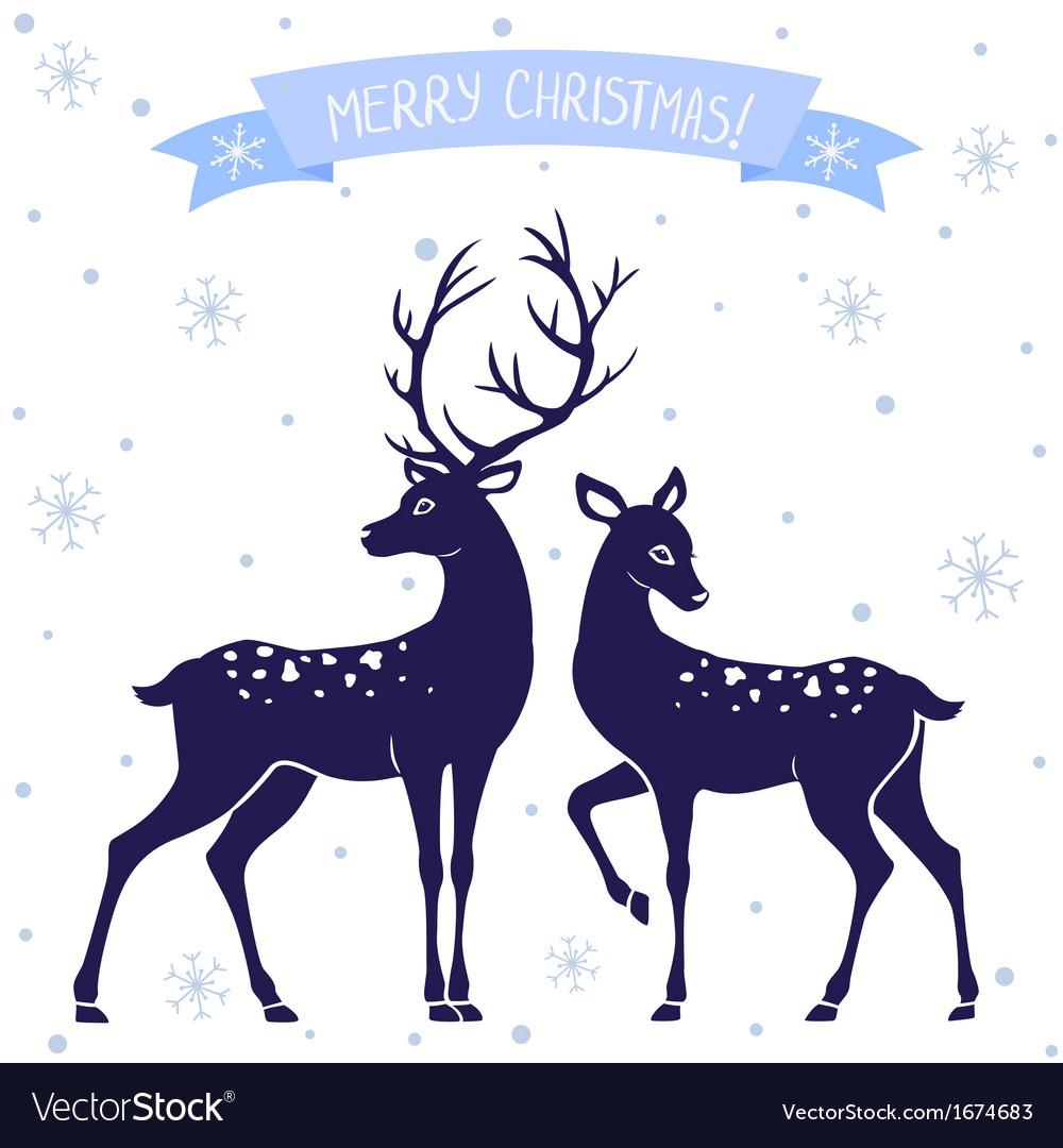 Deer christmas vector | Price: 1 Credit (USD $1)