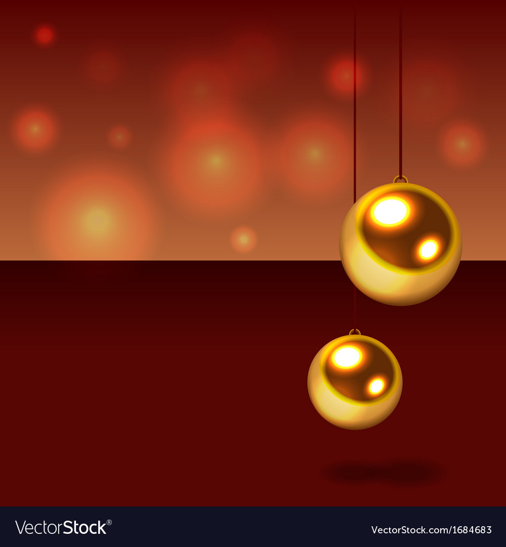Glitter christmas balls vector | Price: 1 Credit (USD $1)
