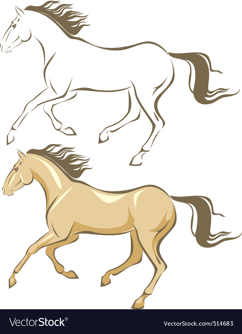 Horse gallop vector | Price: 1 Credit (USD $1)